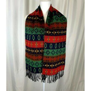Vintage Colorful Scarf Made In France Acrylic